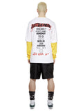 L/S Tour T-Shirt in White/Yellow