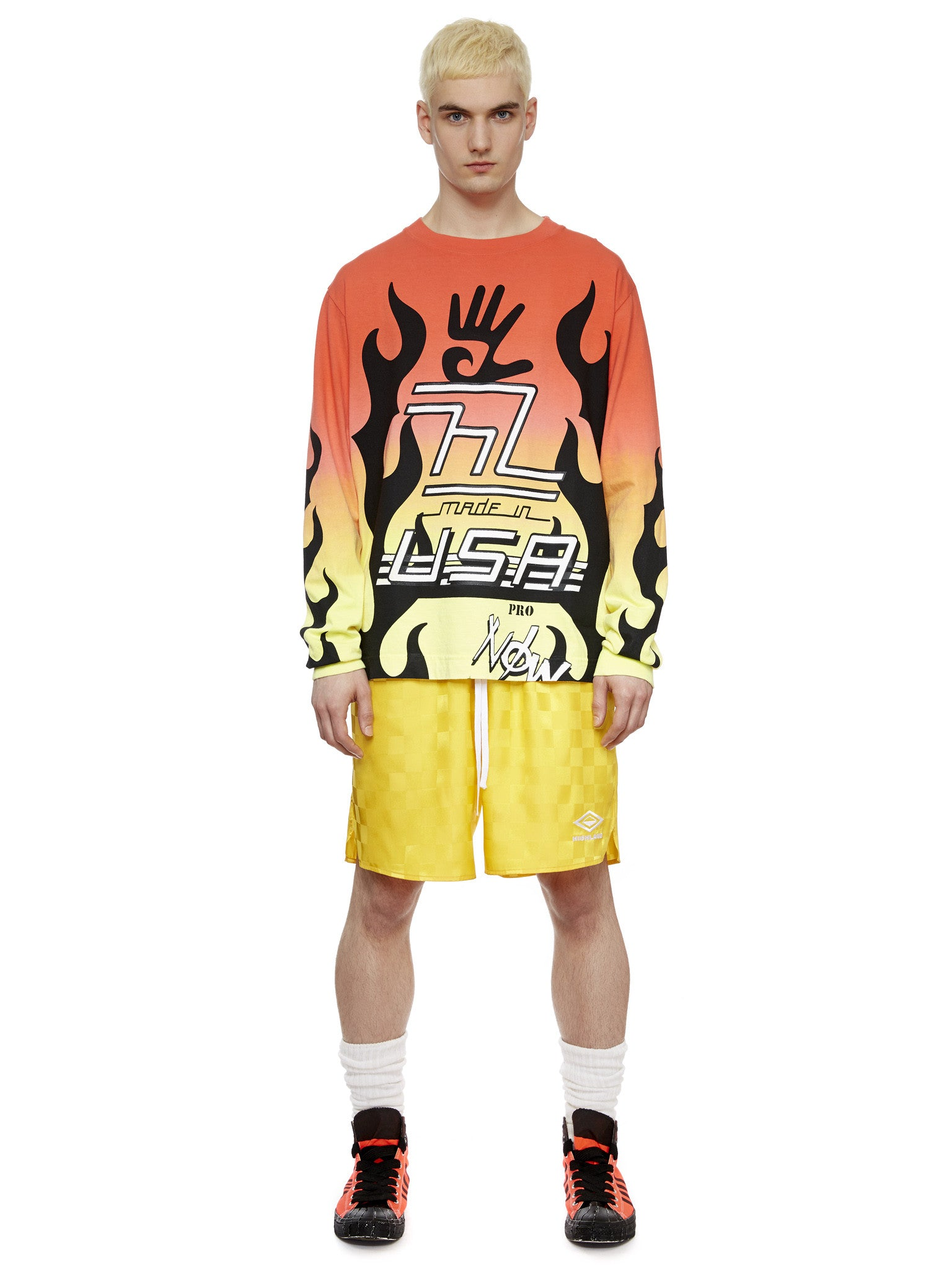 L/S Flame T-Shirt in Flame Gradient