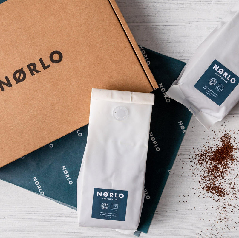 Norlo Organic Caffeinated Coffee Subscription Pack (2 x 200g bags)