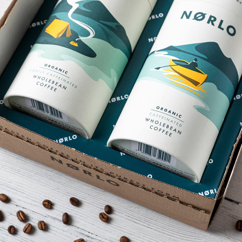 Norlo Organic Caffeinated Coffee Tube (200g)