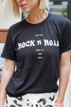 Rock N' Roll In Her Soul Graphic Tee