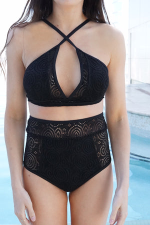 Heat Waves Black Mesh Top PRE-ORDER