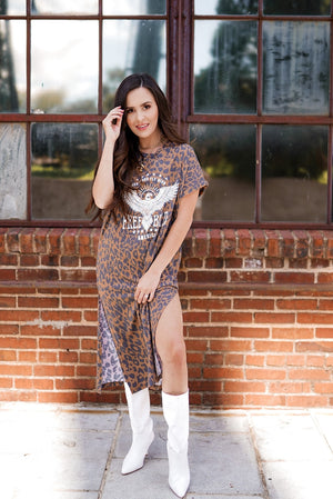 Freebird Leopard Tee Dress