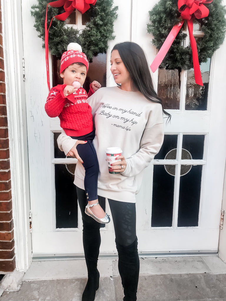 Baby + Coffee Crewneck Sweatshirt