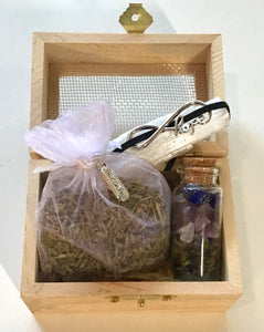 Self care kits: Lavender : hope charm (wood box mesh top)
