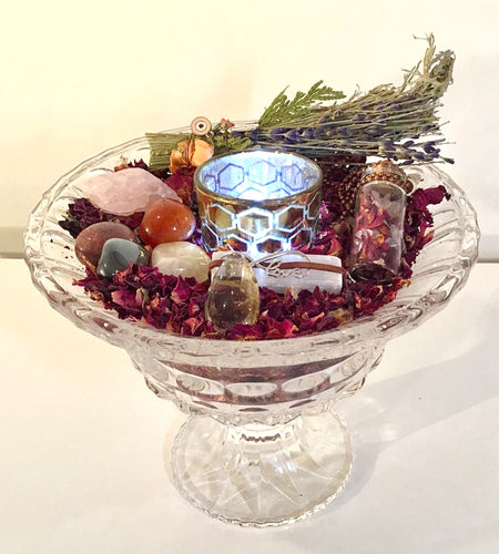 Happy Zen Kit- Rose Collection- Crystal Glass urn