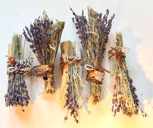 Purify Kit: Lavender/ Sage/ Selenite Stick/Crystal/ Charm