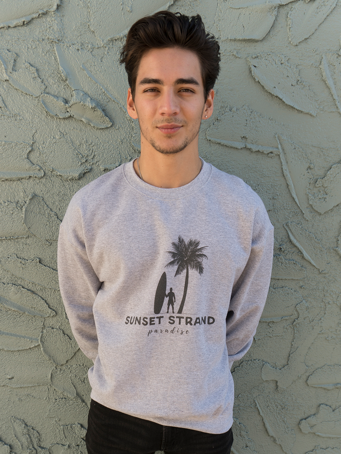 SUNSET STRAND CREWNECK SWEATSHIRT - PARADISE SPORT GREY - Sunset Strand