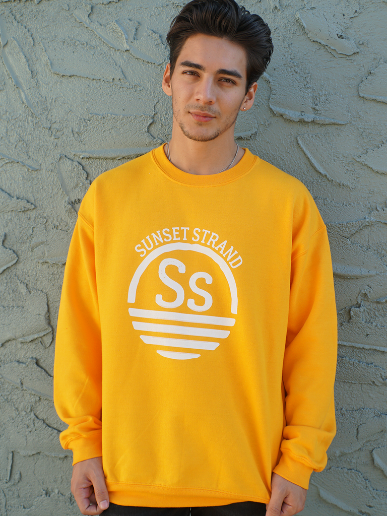 SUNSET STRAND CREWNECK SWEATSHIRT - ORIGINAL YELLOW - Sunset Strand