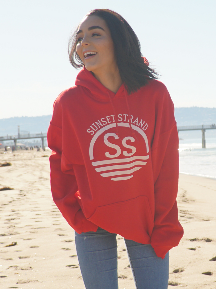 SUNSET STRAND PULLOVER HOODIE - ORIGINAL RED - Sunset Strand
