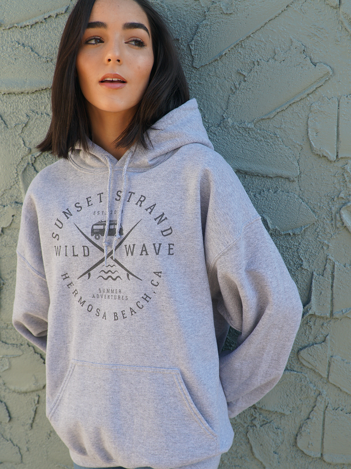 SUNSET STRAND PULLOVER HOODIE - WILD WAVE SPORT GREY - Sunset Strand