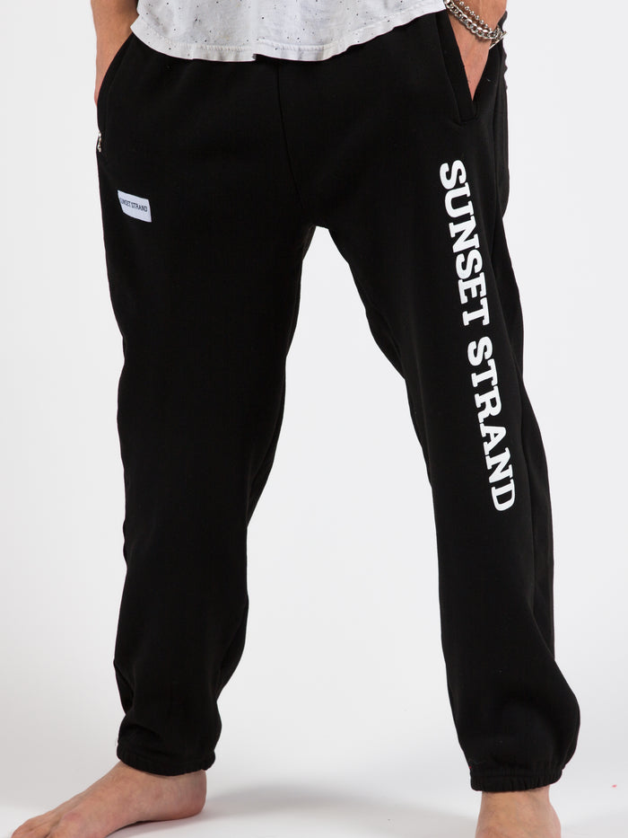 SUNSET STRAND CLASSIC UNISEX SWEATPANTS - BlACK - Sunset Strand