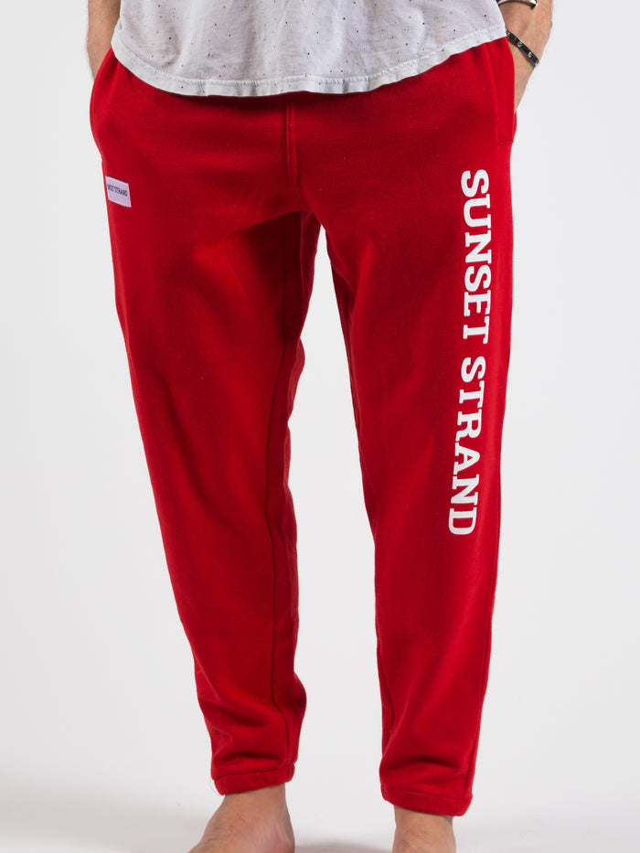 SUNSET STRAND CLASSIC UNISEX SWEATPANTS - RED - Sunset Strand
