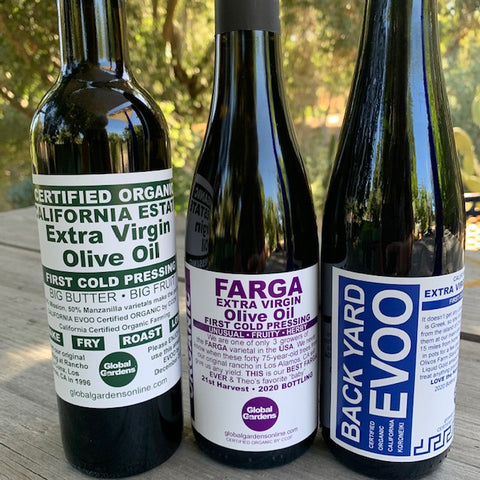 Certified Organic Original Estate EVOO Trio