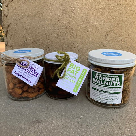 Organic Cocktail Snack Trio--NEW SIZE!