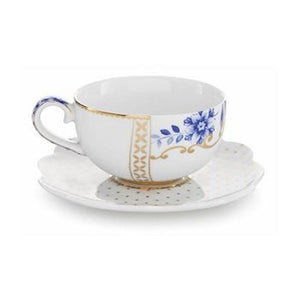 Royal White Espresso Cup & Saucer