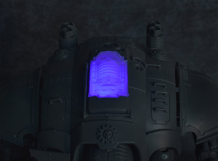 Plasma Coil Carapace Hatch (Frosted Clear)