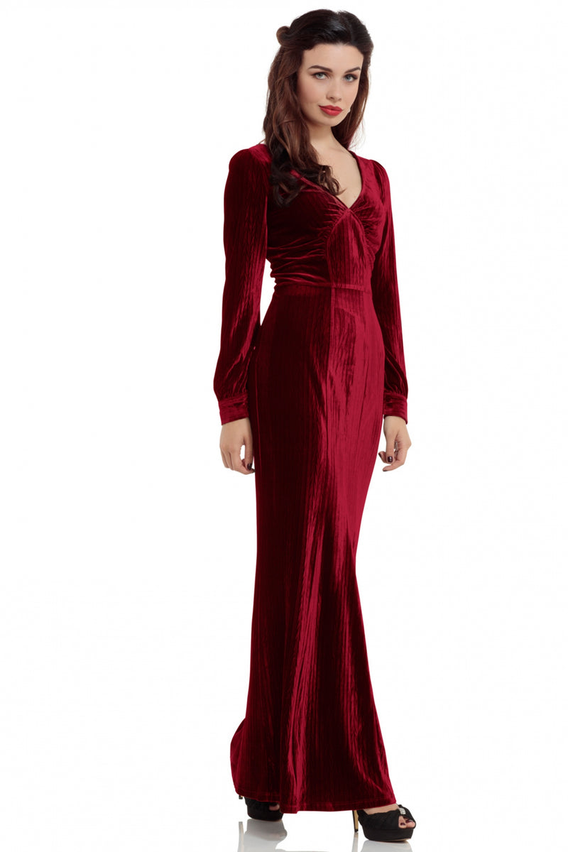 Edith 30's Red Evening Gown