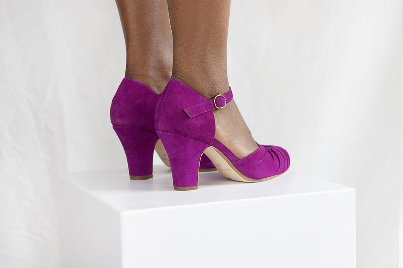 Amber Luxe Violet Suede Ankel Strap