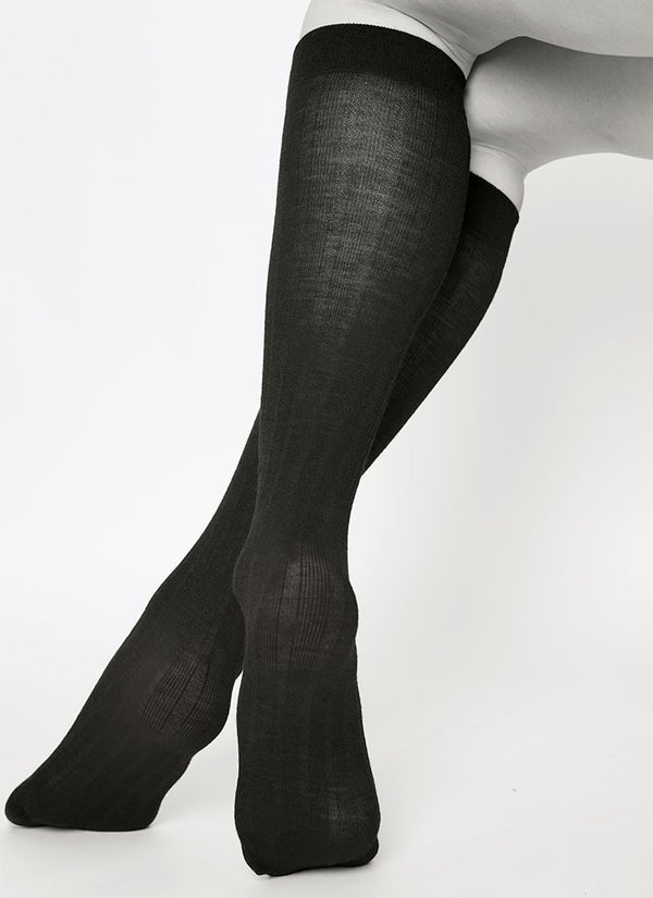 Freja bio wool knee-highs sort