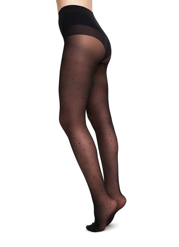Doris dots tights sort 40 denier