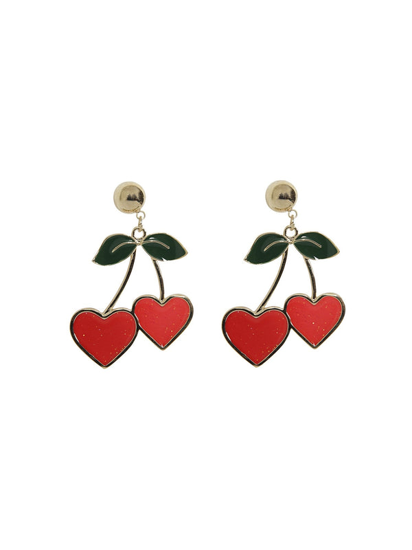 Heart Cherries earrings