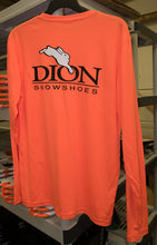t-shirt dion logo back neon orange