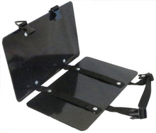 Cleat protector/snowshoe carrier plastic sides go between snowshoes