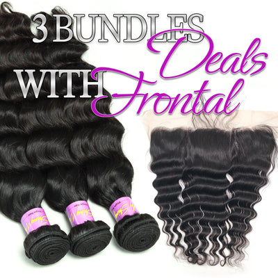 3 BUNDLES DEAL WITH FRONTAL