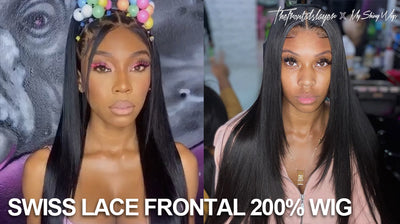 Swiss Lace Frontal 200% Wig
