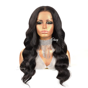 Faye | 5x5 Closure Wig Flim Lace Royal Wave Glueless Closure Wig | Myshinywings®