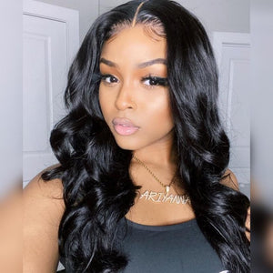 360 Lace Front Wig 100% Human Hair Bleached Knots Royal Wavy | Myshinywigs®