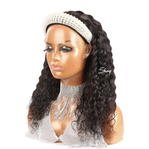 Jayla | Deep Curly Headband Wig 100% Human Hair| Myshinywigs®