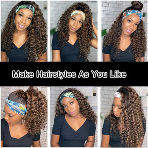 Jery | Highlight Headband Wig Curly 100% Human Hair | Myshinywigs®