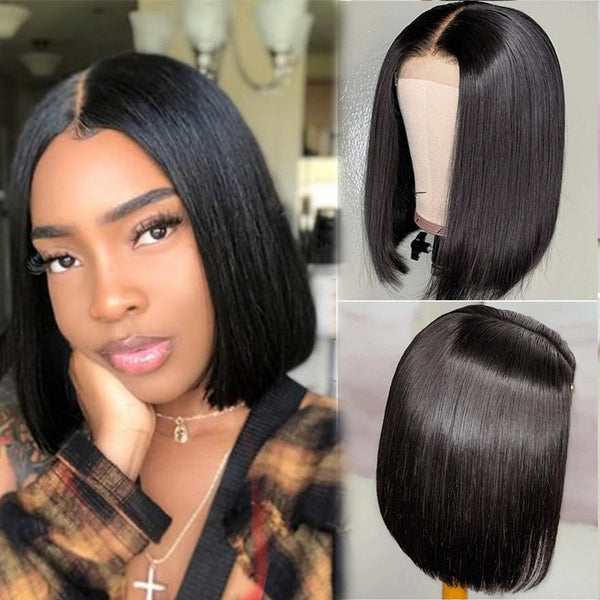 Tina 100% Human Hair Undetectable Lace  T Part Lace Wig