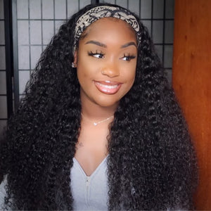 Trendy Exotic Curly Headband Wig 100% Human Hair| Myshinywigs®