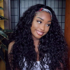 Headband Wig Natural Wave Virgin Hair Beginner Friendly | Myshinywigs®