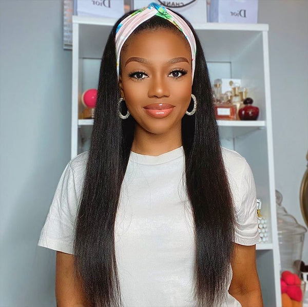 Erin Headband Wig Straight Virgin Hair | Myshinywigs®