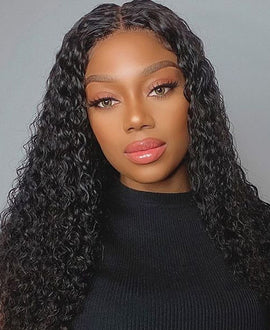 13x4 Water Wave Bleached Konts Swiss Invisible Lace Frontal Wig