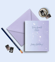 Load image into Gallery viewer, Zodiac Birthday Greeting Card