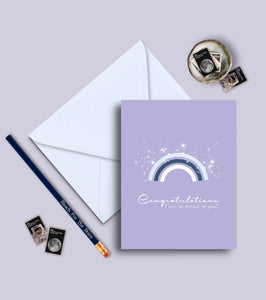 Congratulations, I Am So Proud Of You Greeting Card