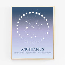 Load image into Gallery viewer, Zodiac Sign Art Print