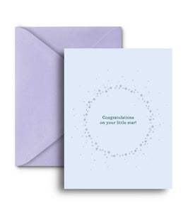 Congratulations On Your Little Star Greeting Card