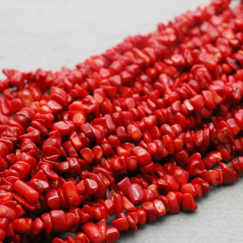 Unevenly shaped Coral beads
