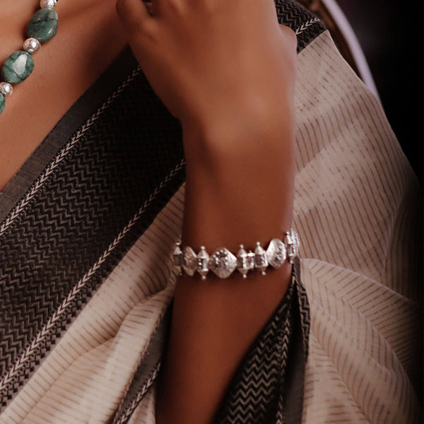 Ashtachakra Silver Bangle - mohabygeetanjali