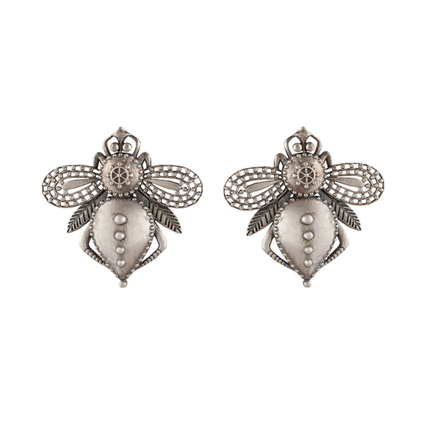 Bhawara Silver Earrings - mohabygeetanjali