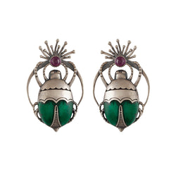 Buy Bhramara Silver Earrings