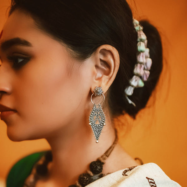Chamba Silver Earrings - mohabygeetanjali