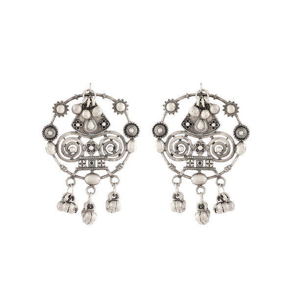Chittor Silver Earrings - mohabygeetanjali