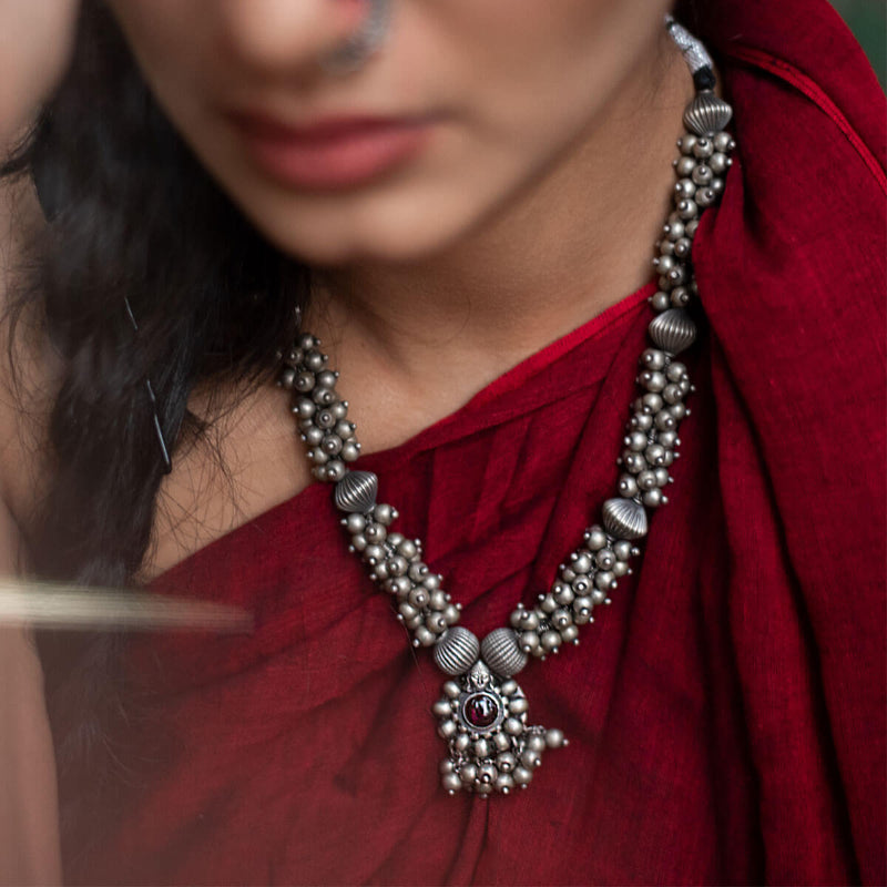 Devika Silver Necklace